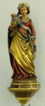 Heilige Barbara, Katholische Kirche Maria Hilf, Herzfelde