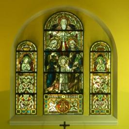 Bleiglasfenster mit der Heiligen Familie, Katholische Kirche Heilige Familie, Rüdersdorf