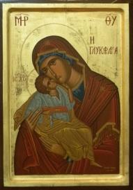 Ikone, Madonna und Kind, Katholische Kirche Heilige Familie, Rüdersdorf