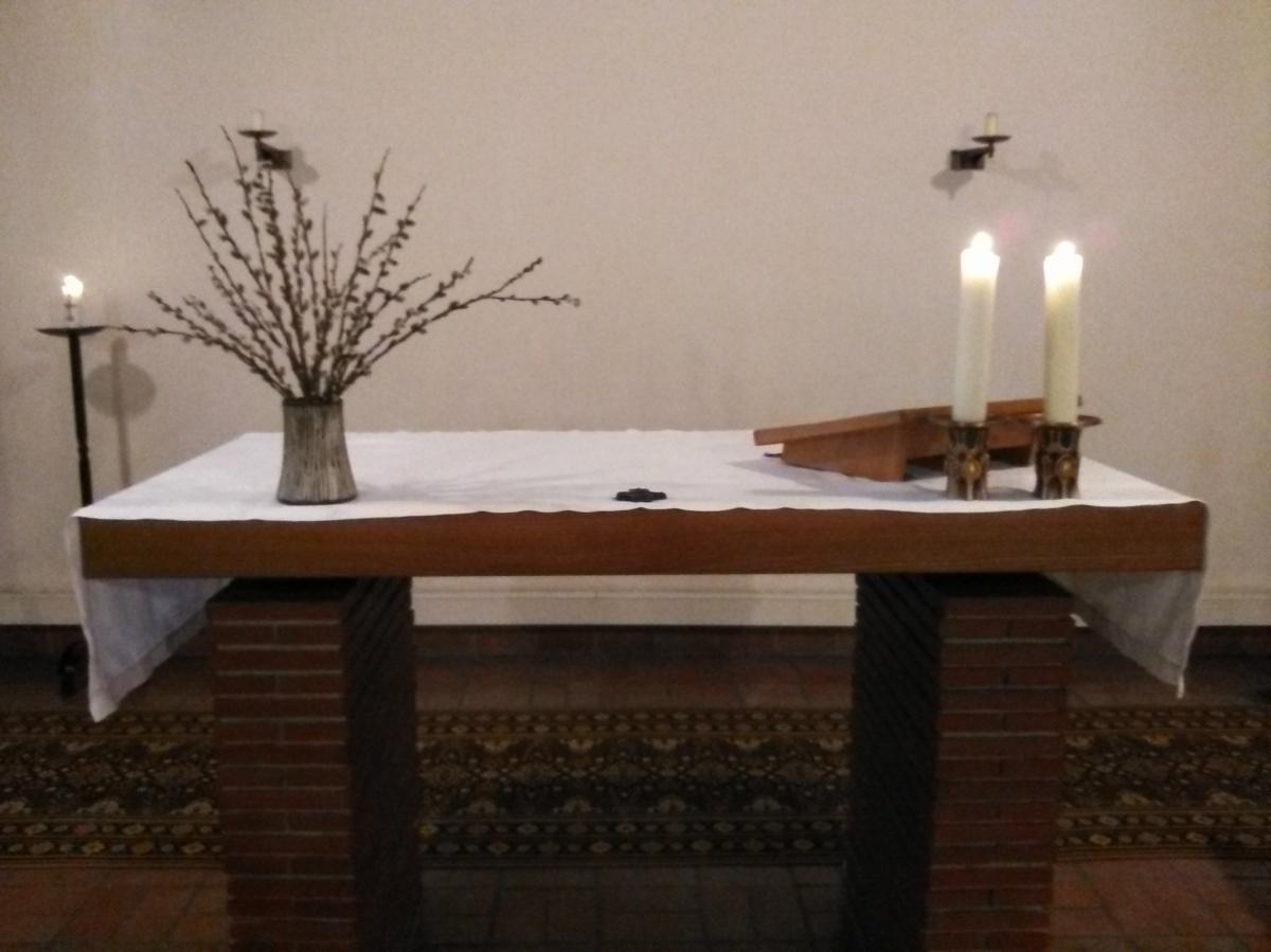 Altar mit Palmen, Herzfelde